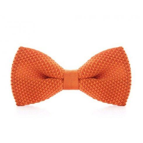 Narancssárga kötött selyem csokornyakkendő