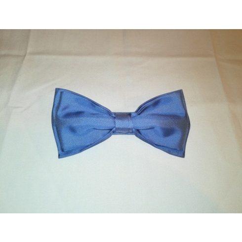 Kék selyem előre megkötött csokornyakkendő