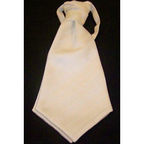Fehér, anyagában mintás francia nyakkendő