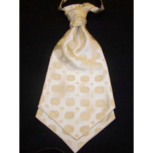 Krémszínű, anyagában mintás francia nyakkendő