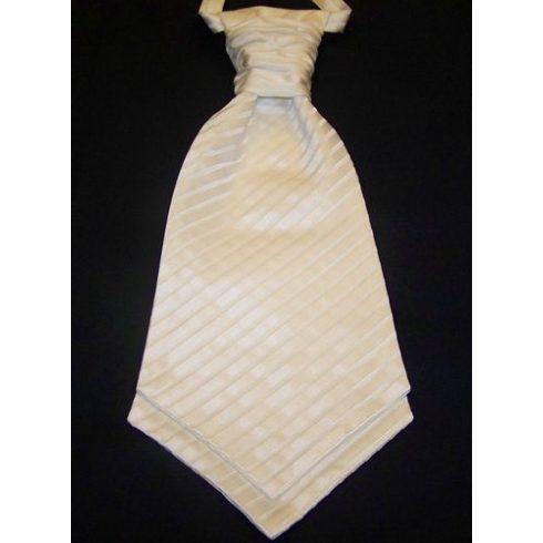 Ekrü, anyagában csíkos francia nyakkendő