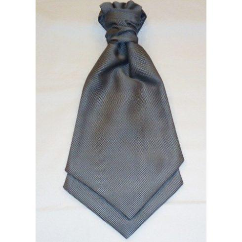 Ezüstszürke alapon fekete mintás francia nyakkendő