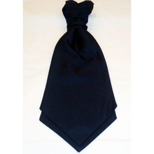 Sötétkék, anyagában mintás francia nyakkendő