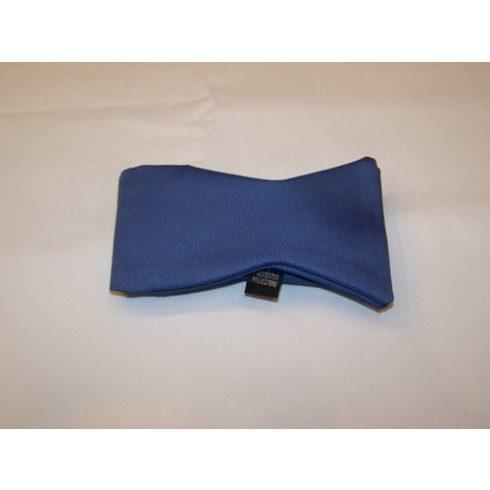 Kék poliészter megkötős csokornyakkendő