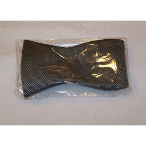 Ezüst alapon fekete mintás poliészter megkötős csokornyakkendő