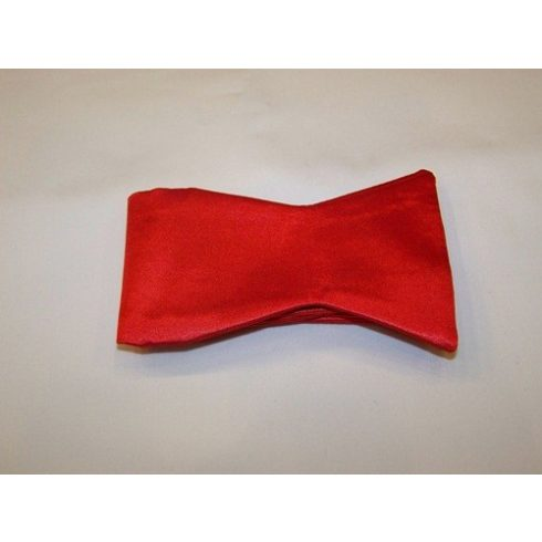 Piros megkötős selyem csokornyakkendő