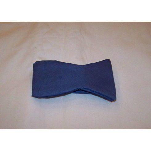 Kék megkötős selyem csokornyakkendő