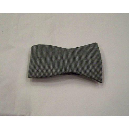 Ezüst alapon fekete mintás megkötős selyem csokornyakkendő