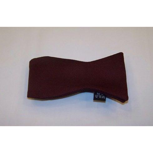 Bordó alapon fekete mintás selyem megkötős csokornyakkendő