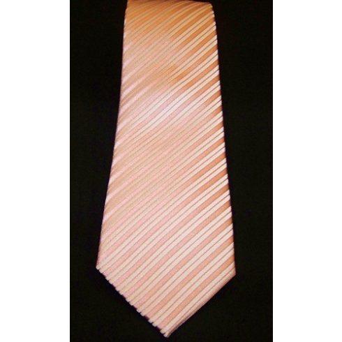 Rózsaszín alapon világos rózsaszín csíkos selyem nyakkendő