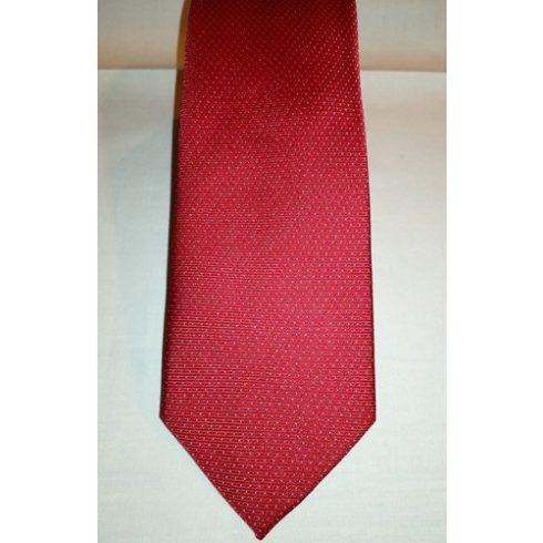 Piros alapon fehér és kék pöttyös selyem nyakkendő