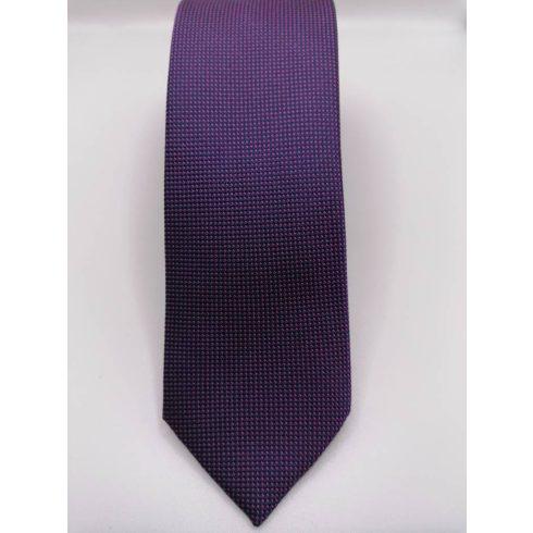 Bordó alapon fehér pöttyös selyem nyakkendő