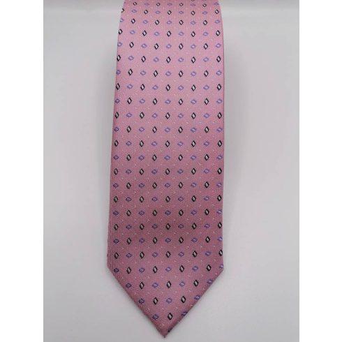 Sötétlila alapon fehér pöttyös selyem nyakkendő