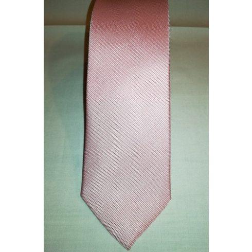 Világos rózsaszín, anyagában mintás selyem nyakkendő