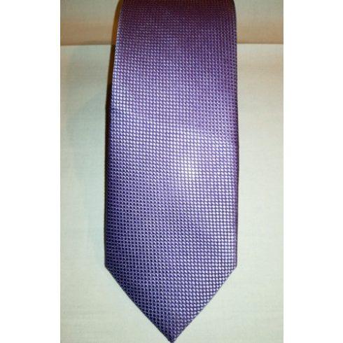 Középlila, anyagában mintás selyem nyakkendő