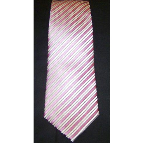 Szürke alapon lila csíkos poliészter nyakkendő