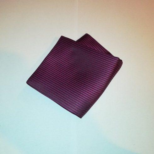 Ciklámenlila alapon fekete csíkos selyem díszzsebkendő