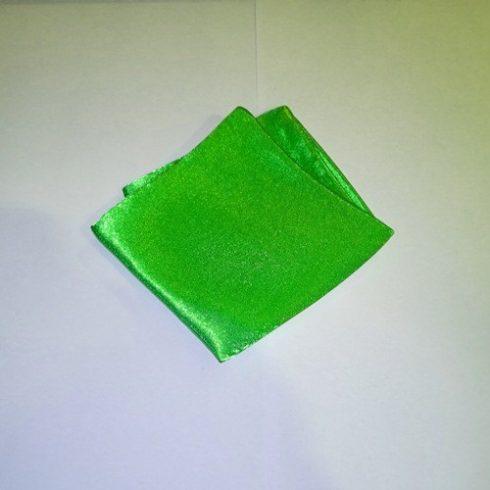 Neonzöld selyem díszzsebkendő