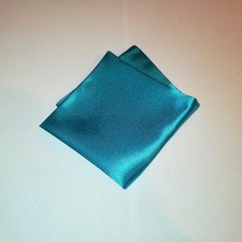 Türkízkék selyem díszzsebkendő
