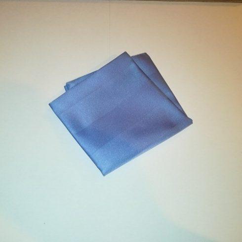 Kék, anyagában mintás selyem díszzsebkendő