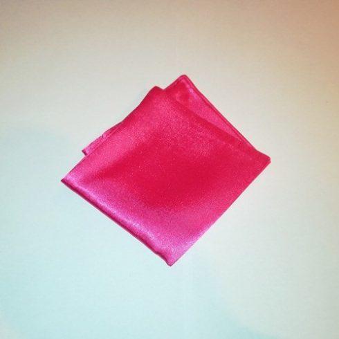 Pink selyem díszzsebkendő