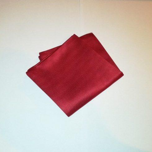 Bordóspiros, anyagában csíkos selyem díszzsebkendő