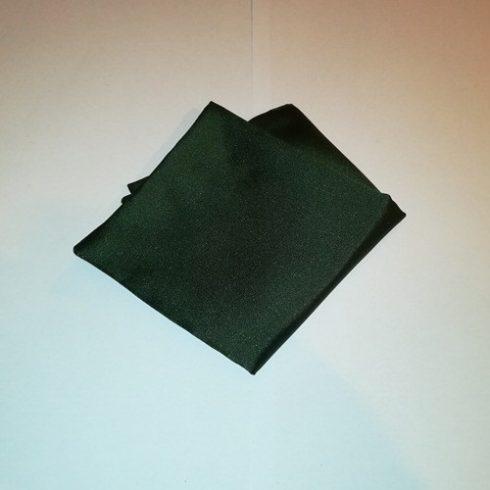 Sötétzöld selyem díszzsebkendő