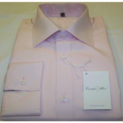 Rózsaszín, anyagában mintás hosszú ujjú ing