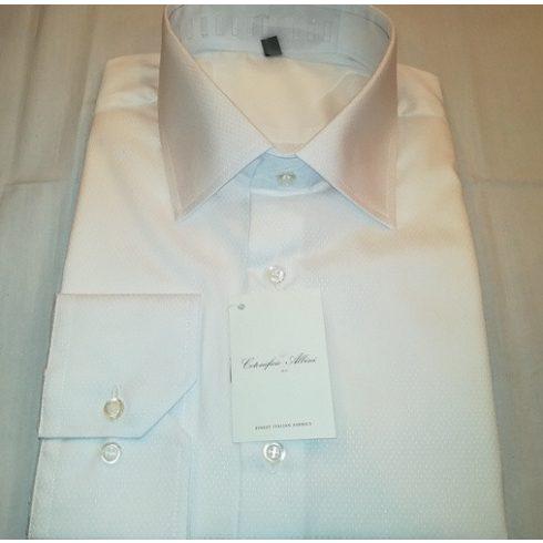 Fehér, anyagában mintás hosszú ujjú ing