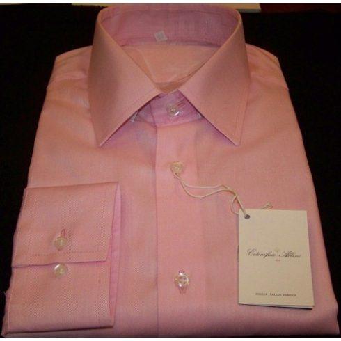 Rózsaszín sávoly csíkos hosszú ujjú ing