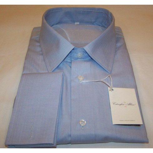 Kék, anyagában mintás hosszú ujjú ing