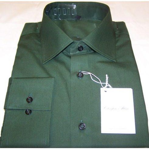 Sötétzöld hosszú ujjú ing