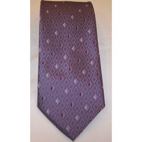 Lila alapon sötétlila és világoslila mintás poliészter nyakkendő