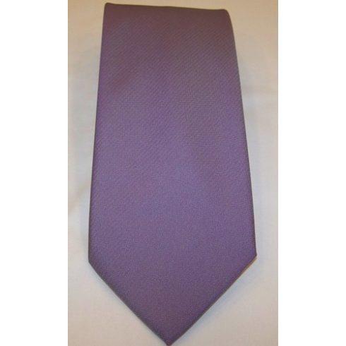 Középlila, anyagában mintás poliészter nyakkendő