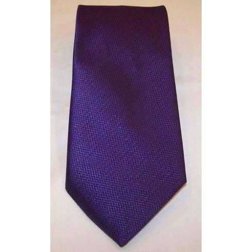 Sötétlila, anyagában mintás poliészter nyakkendő