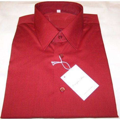 Bordó rövid ujjú ing