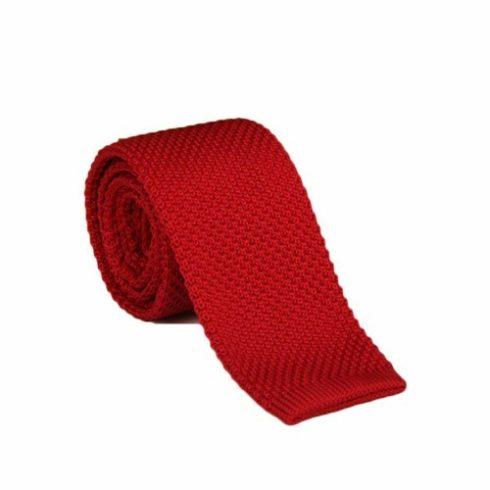 Fekete selyem kötött nyakkendő