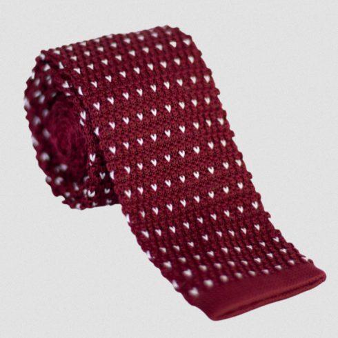 Középlila kötött selyem nyakkendő