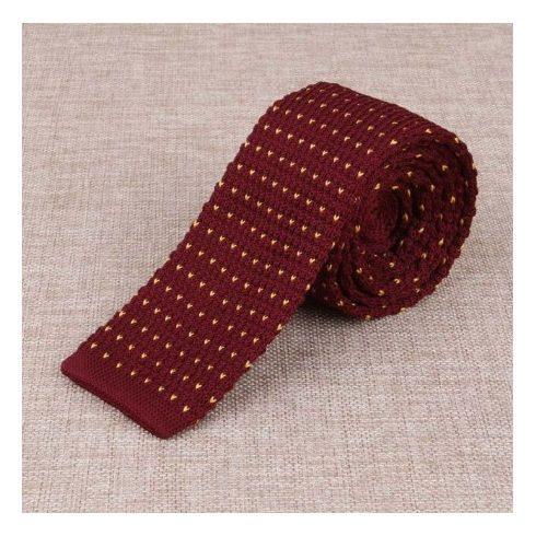 Sárga selyem kötött nyakkendő