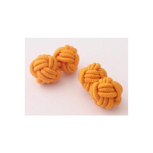 Narancssárga selyem mandzsettagomb szett
