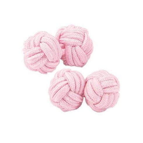 Világos rózsaszín selyem mandzsettagomb szett