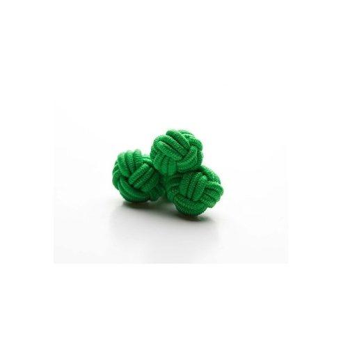 Zöld selyem mandzsettagomb szett