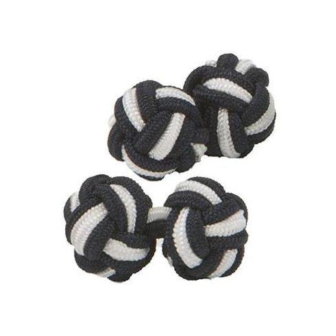 Fekete-Fehér selyem mandzsettagomb szett