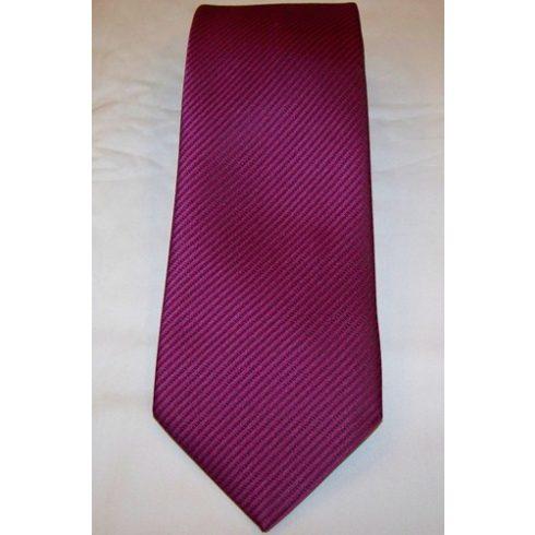 Ciklámenlila alapon fekete csíkos selyem nyakkendő