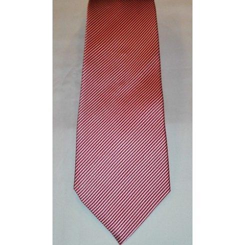 Fehér alapon piros csíkos selyem nyakkendő