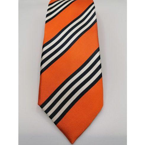 Ezüstszürke alapon szürke csíkos selyem nyakkendő