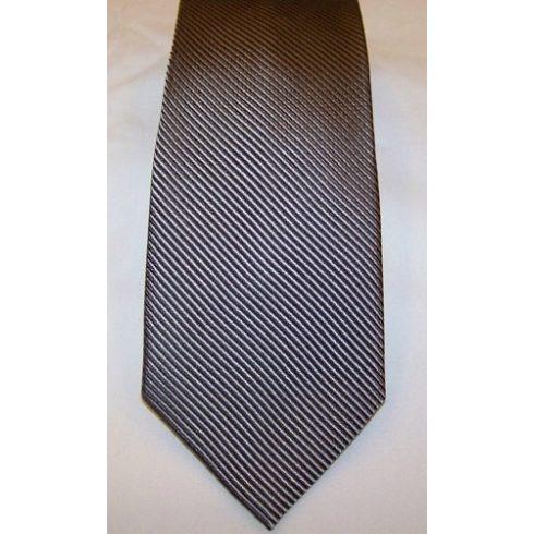 Szürke alapon fekete csíkos selyem nyakkendő