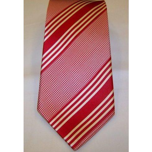 Piros alapon fehér mintás selyem nyakkendő