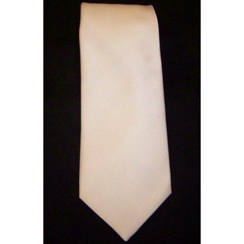 Fehér selyem nyakkendő
