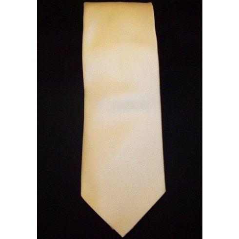 Sárga selyem nyakkendő
